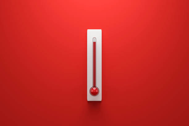 Thermomètre qui montre l'évolution de la température